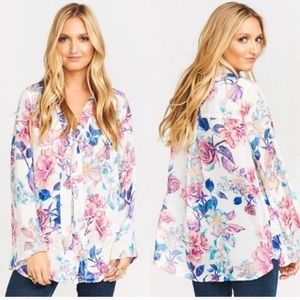 New Show Me Your MuMu Taylor Tie Front Tunic